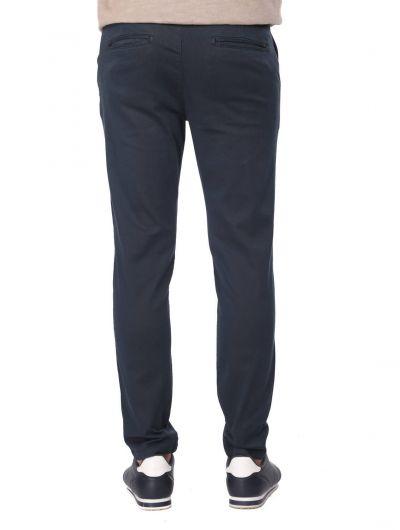 Dark Navy Blue Men's Chino Pants - Thumbnail