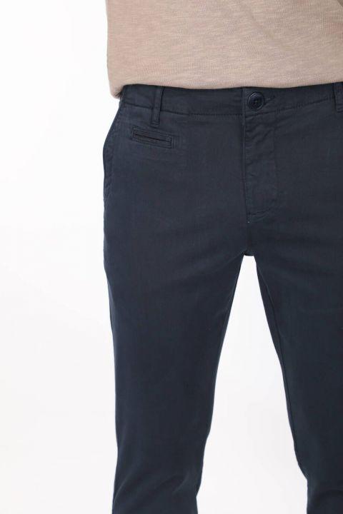 Dark Navy Blue Men's Chino Pants