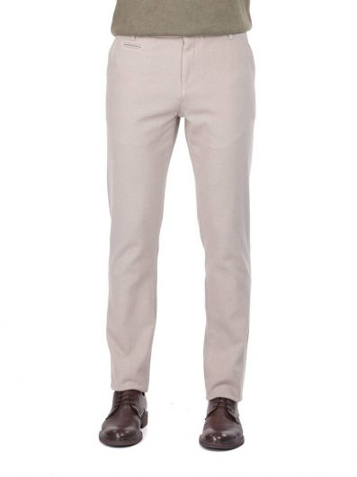 Beige Men's Chino Trousers - Thumbnail