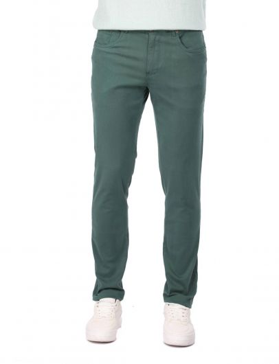 Green Men's Chino Pants - Thumbnail