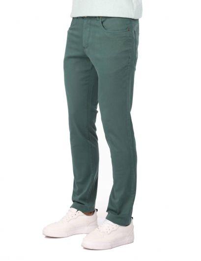 MARKAPIA MAN - Зеленые мужские брюки чинос (1)