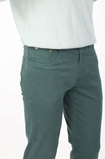 Зеленые мужские брюки чинос - Thumbnail