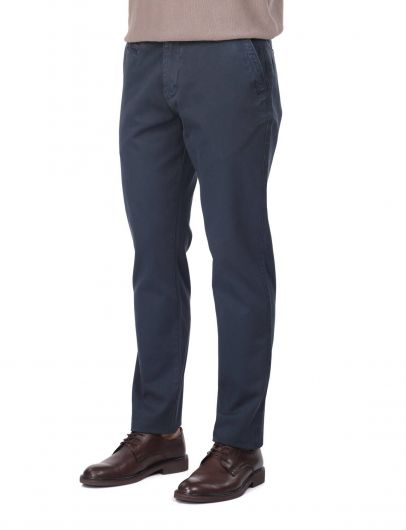 MARKAPIA MAN - Navy Blue Men's Chino Trousers (1)