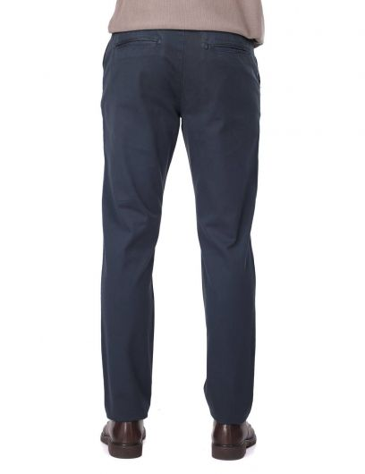 Navy Blue Men's Chino Pants - Thumbnail