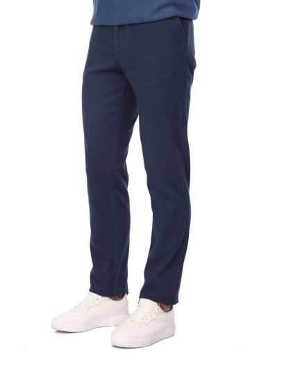 MARKAPIA MAN - Navy Blue Men's Chino Pants (1)