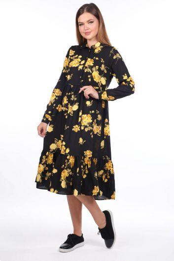 MARKAPIA WOMAN - Çiçek Desenli Midi Elbise (1)