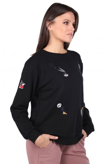 MARKAPIA WOMAN - Cartoon Character Embroidered Sweatshirt (1)