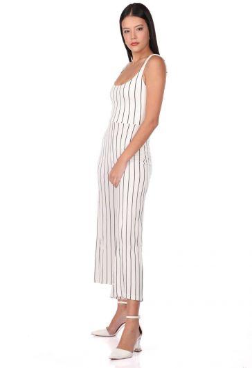 MARKAPIA WOMAN - Çizgili Askılı Tulum Pantolon (1)