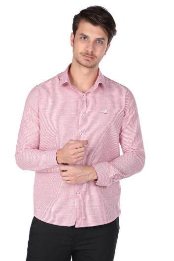 Çizgili Erkek Gömlek - Thumbnail