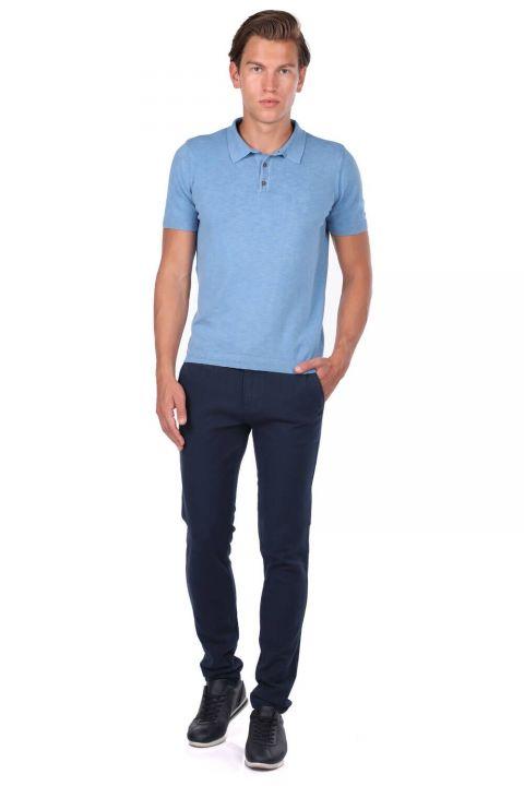 Collar Detailed Polo Neck T-Shirt