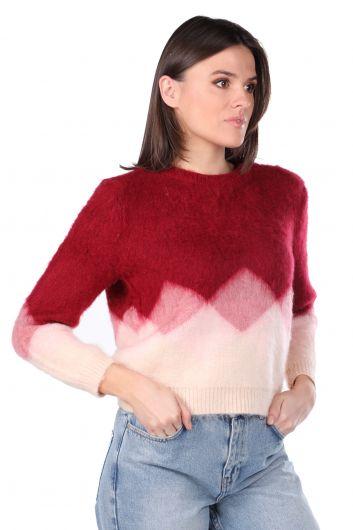 Женский свитер Color Transition Yumos - Thumbnail