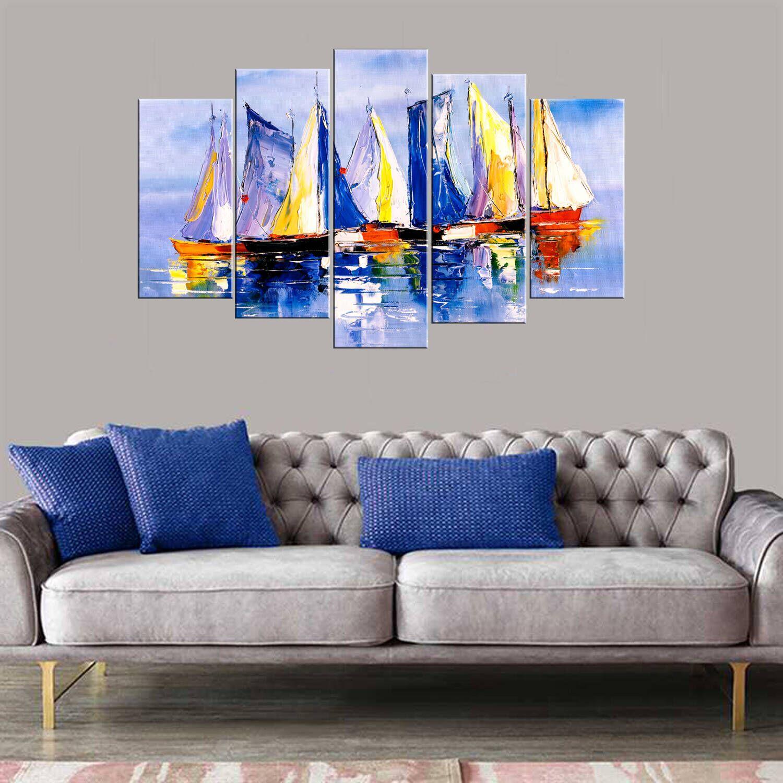 Цветные лодки 5 шт Mdf Живопись