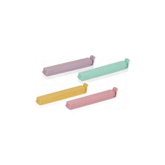 Разноцветные зажимы для сумок 4 шт. - Thumbnail