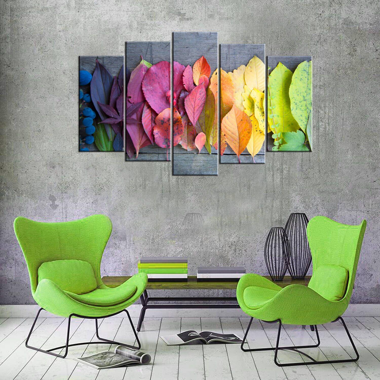 Цветные листья 5 шт. Стол из МДФ