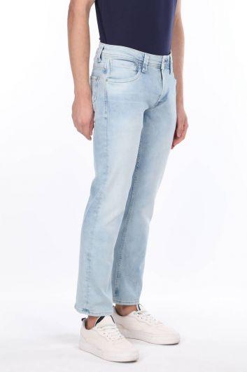 MARKAPIA MAN - Комфортные синие джинсовые мужские брюки (1)