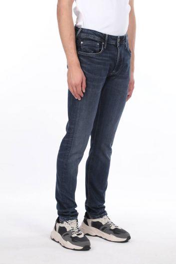 MARKAPIA MAN - Комфортные темно-синие джинсовые мужские брюки (1)
