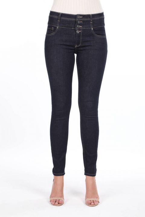 Джинсовые брюки Skınny Corsage с высокой талией