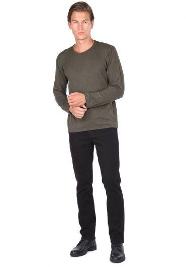 Green Men's Crew Neck Sweater - Thumbnail