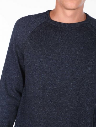 Crew Neck Knitwear Sweater - Thumbnail