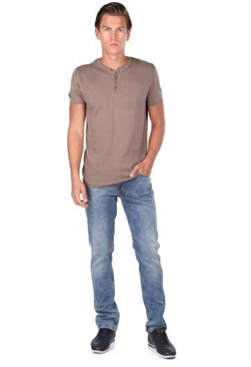 Crew Neck Knitwear T-Shirt - Thumbnail