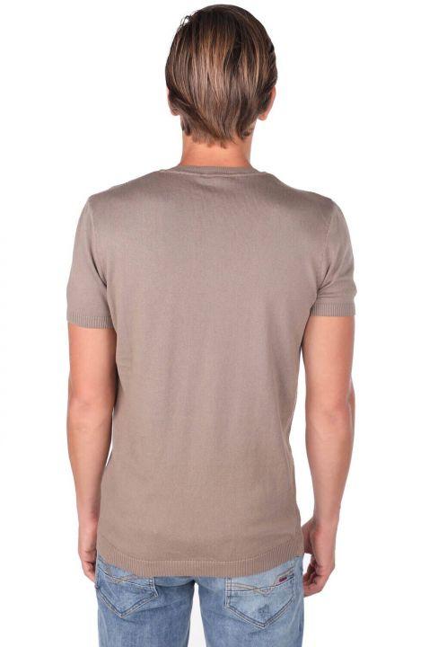 Crew Neck Knitwear T-Shirt
