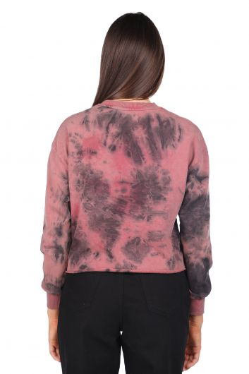MARKAPIA WOMAN - Crop Batik Women's Sweatshirt (1)