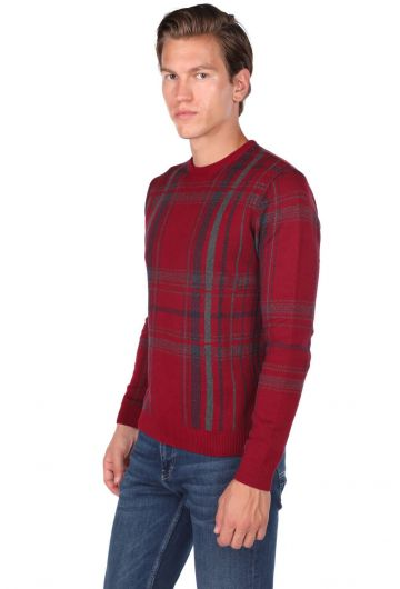 MARKAPIA MAN - Crew Neck Claret Red Men's Sweater (1)