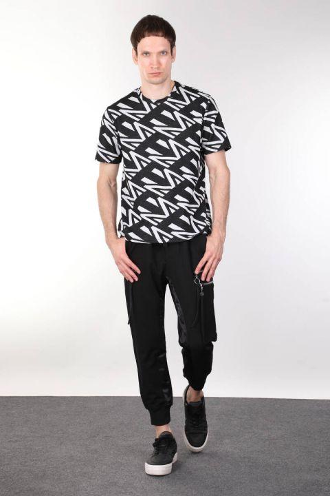 Толстая мужская футболка с круглым вырезом