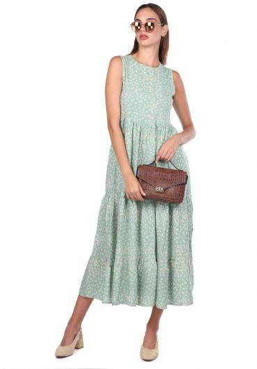 Платье без рукавов с рисунком ромашки - Thumbnail
