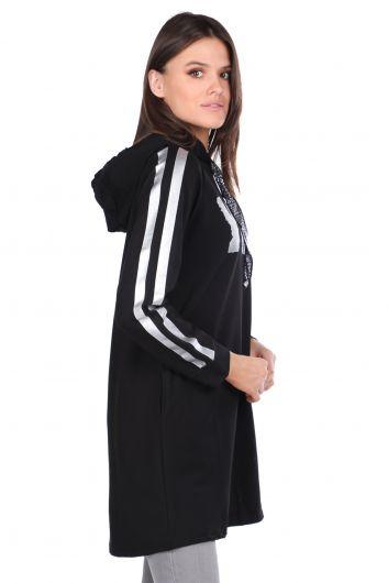 MARKAPIA WOMAN - Dijital Bakılı Basic Kadın Sweatshirt (1)