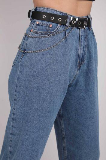 Double Chain Leather Belt - Thumbnail