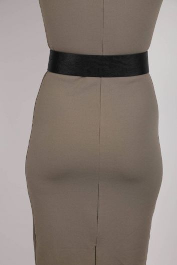 MARKAPIA WOMAN - Double Button Leather Belt (1)