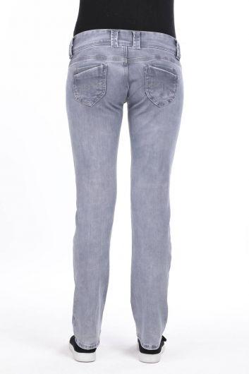 Double Pocket Low Waist Jean Trousers - Thumbnail