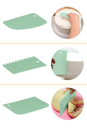 Dough Cutter Scraper Shaper Set of 3 - Thumbnail