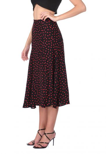 MARKAPIA WOMAN - Button Detailed Polka Dot Midi Skirt (1)
