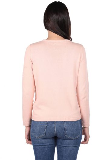 MARKAPIA WOMAN - Pink Front Buttoned Women's Knitwear Cardigan (1)