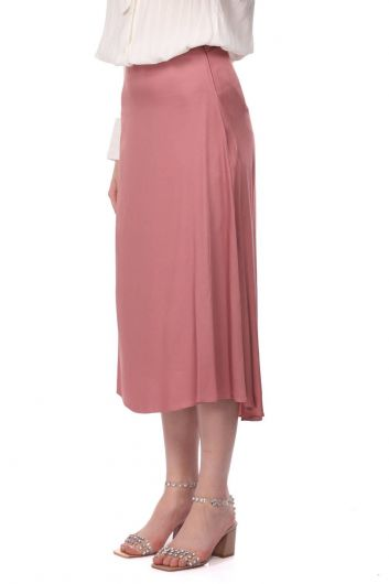 MARKAPIA WOMAN - تنورة ميدي مستقيمة وردية من ماركابيا (1)