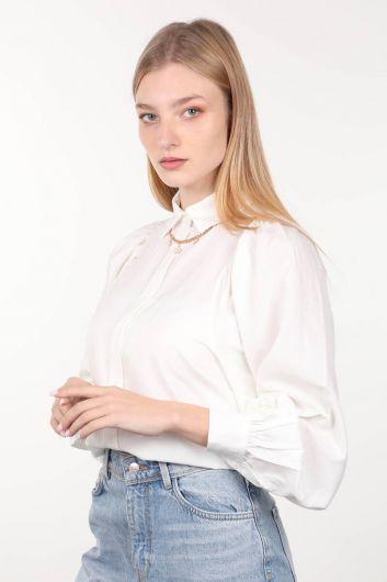 MARKAPIA WOMAN - قميص نسائي بأكمام بالون من Ecru (1)