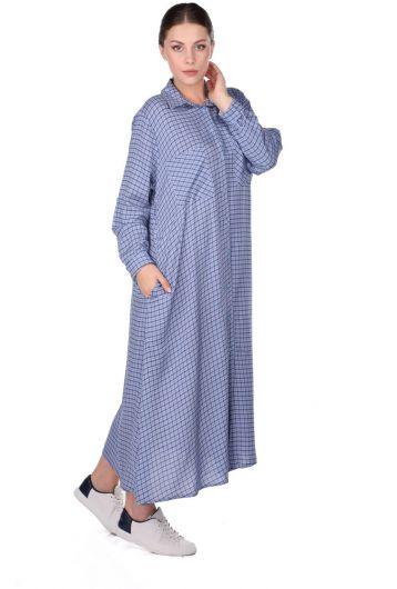 MARKAPIA WOMAN - Платье-рубашка в клетку (1)
