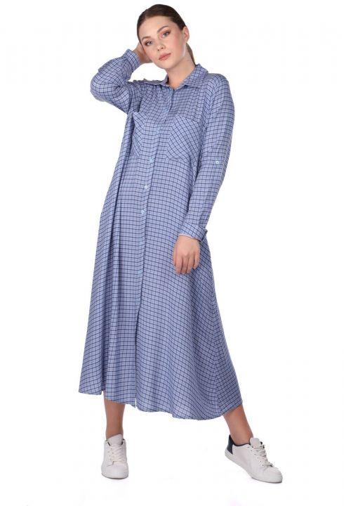Ekose Gömlek Elbise