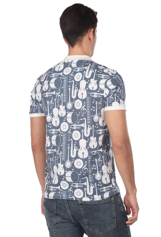 Enstürman Desenli Polo Yaka Erkek T-Shirt
