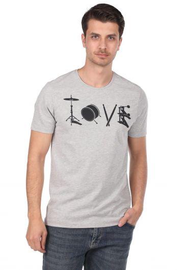 Enstrüman Desenli Erkek T-Shirt - Thumbnail