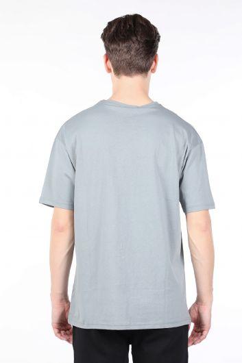 Erkek Açık Füme Bisiklet Yaka T-shirt - Thumbnail