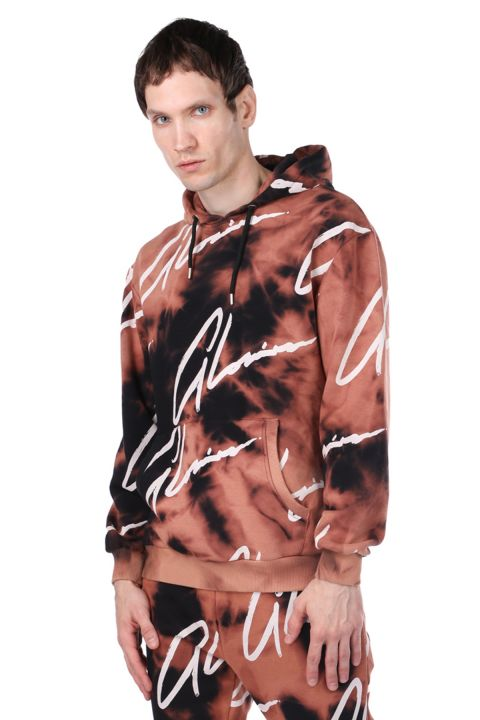 Erkek Batik Kapüşonlu Sweatshirt