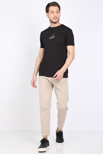 Erkek Bej Orta Bel Jean Pantolon - Thumbnail