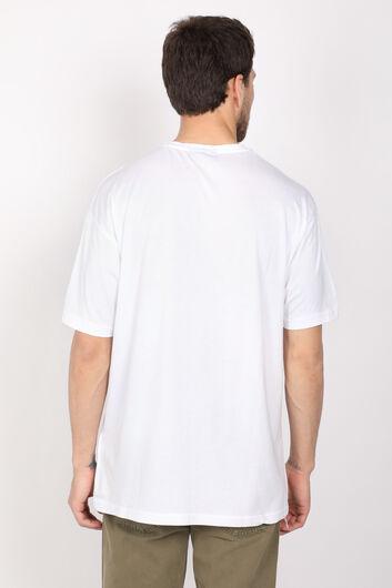 COUTURE - Erkek Beyaz Bisiklet Yaka T-shirt (1)