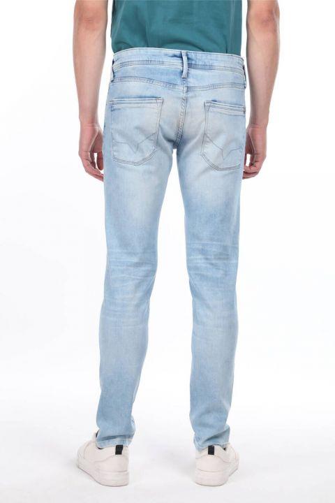 Erkek Boru Paça Düşük Bel Jean Pantolon
