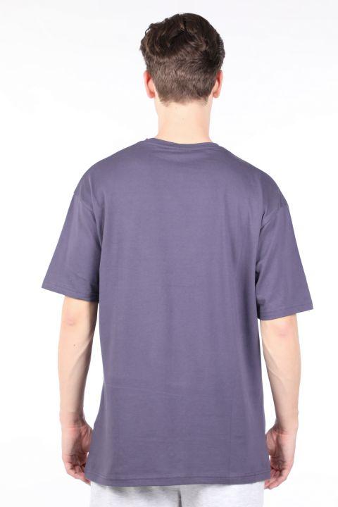 Erkek Füme Bisiklet Yaka T-shirt