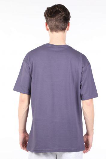 Erkek Füme Bisiklet Yaka T-shirt Couture - Thumbnail
