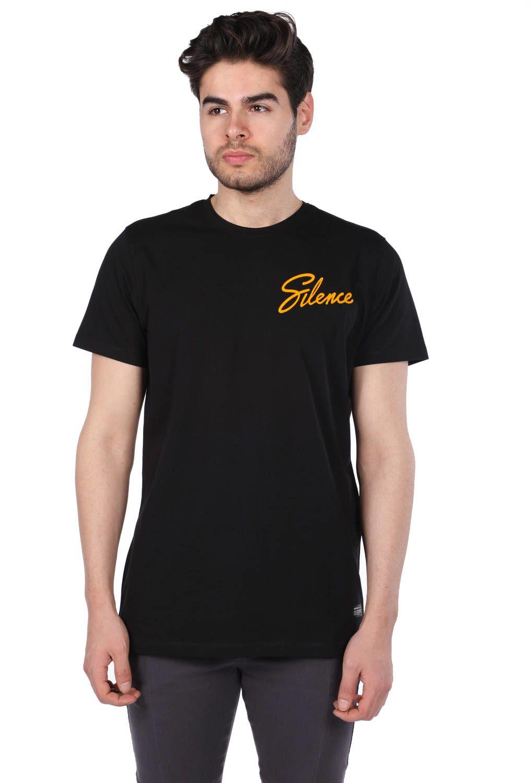 Sılence Yazılı Siyah Erkek T-Shirt